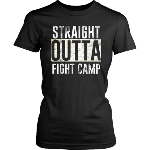 Straight Outta Fight Camp Ladies Tee