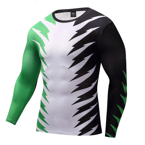 Tri Color Compression Top (Long Sleeves)