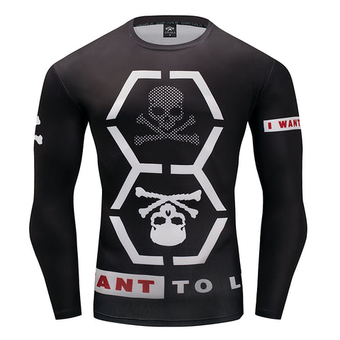 Hex Skull Compression Top (Long Sleeves)