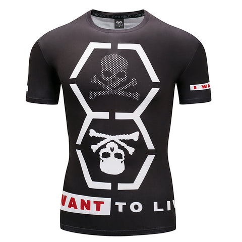 Hex Skull Compression Top (Short Sleeves)