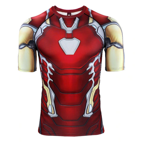 Iron Man Compression Top (Short Sleeves)