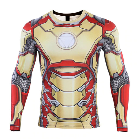 Iron Man MK42 Compression Top (Long Sleeves)