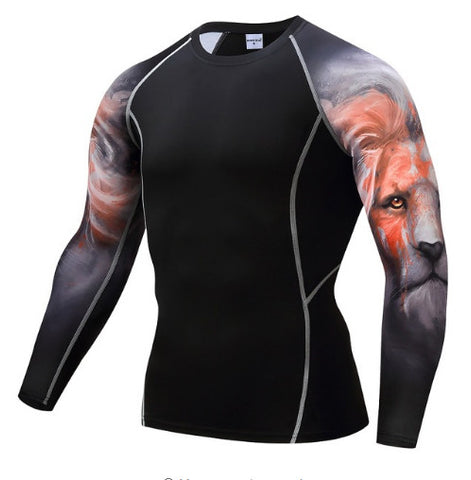 Lion Compression Top (Long Sleeves)