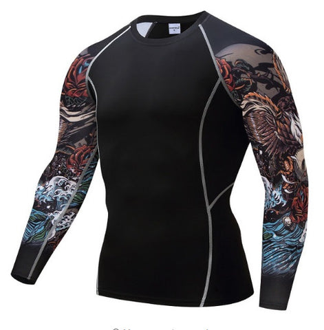 Nature Skull Compression Top (Long Sleeves)