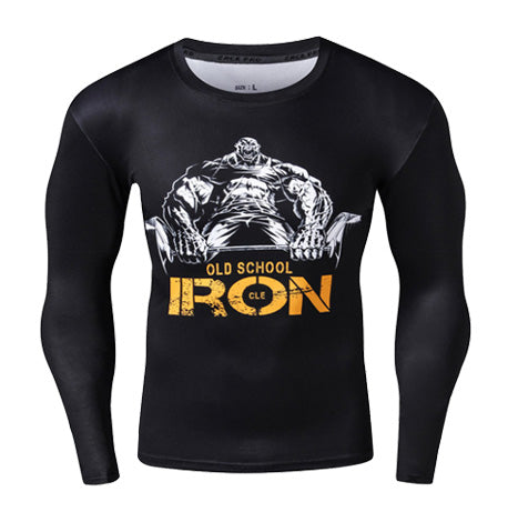 Old School Iron Compression Top (Long Sleeves)