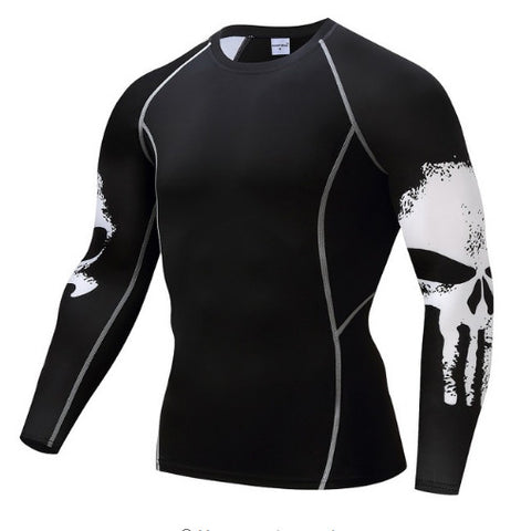 Punisher Skull Compression Top (Long Sleeves)