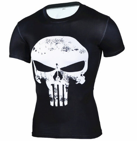 Punisher Compression Top (Shorts Sleeves)
