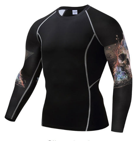 Rock Skull Compression Top (Long Sleeves)
