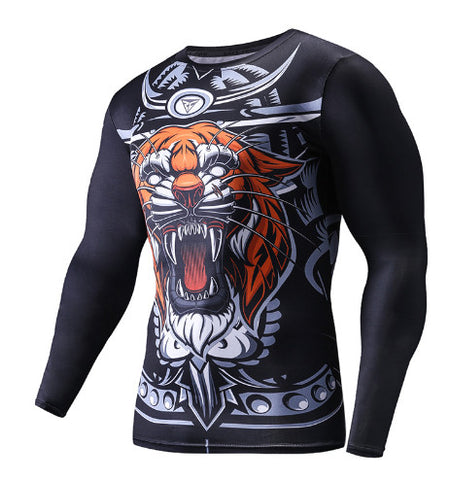 Samurai Tiger Rashguard Long Sleeves
