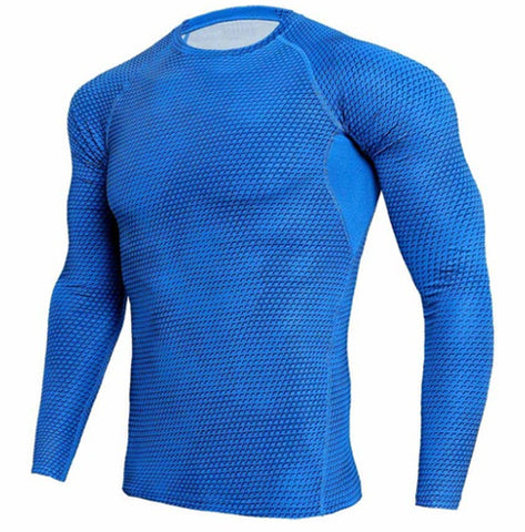 Scaly Blue Compression Top (Long Sleeves)