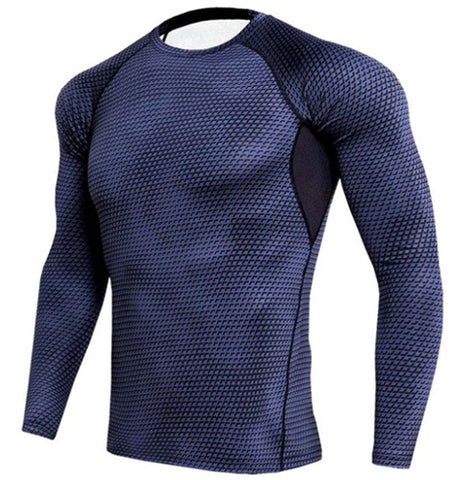 Scaly Charcoal Compression Top (Long Sleeves)