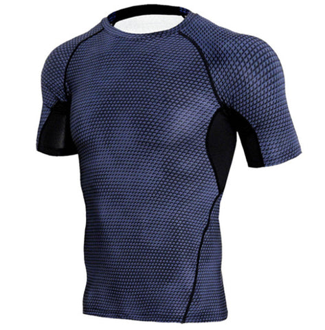 Scaly Charcoal Compression Top (Shorts Sleeves)