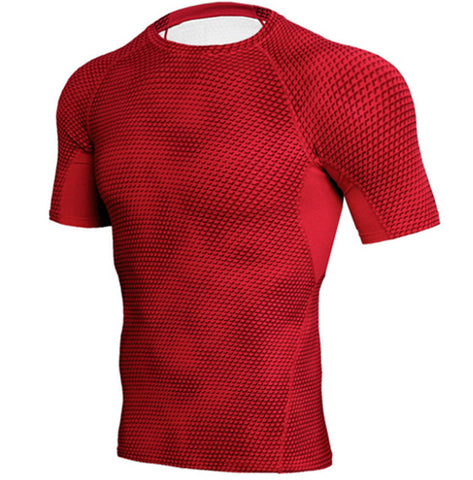 Scaly Red Compression Top (Shorts Sleeves)