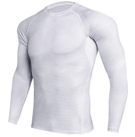 Scaly White Compression Top (Long Sleeves)