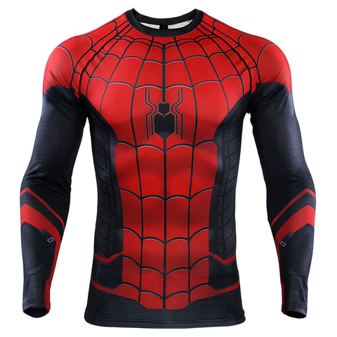 Spider-Man Far From Home Compression Top (Long Sleeves)