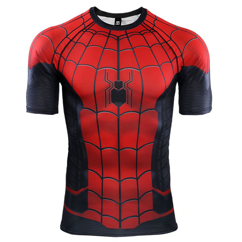 Spider-Man Far From Home Compression Top (Short Sleeves)