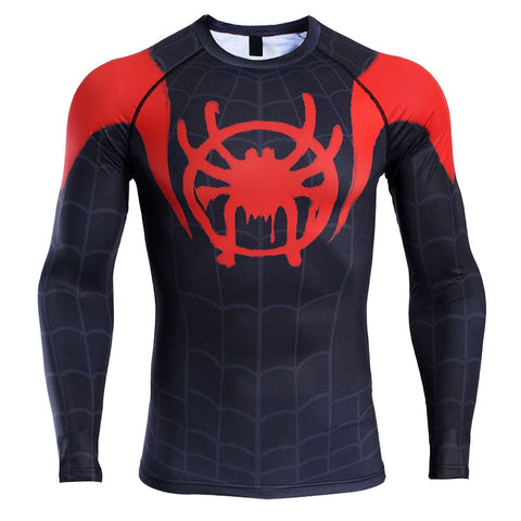 Spiderman Into The Spider-Verse Compression Top (Long Sleeves)