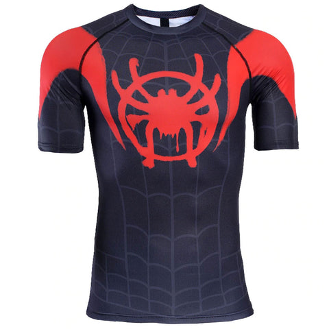 Spiderman Into The Spider-Verse Compression Top (Short Sleeves)