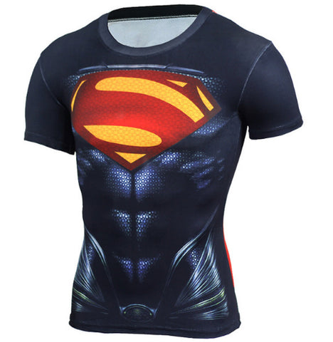 Superman Compression Top (Shorts Sleeves)