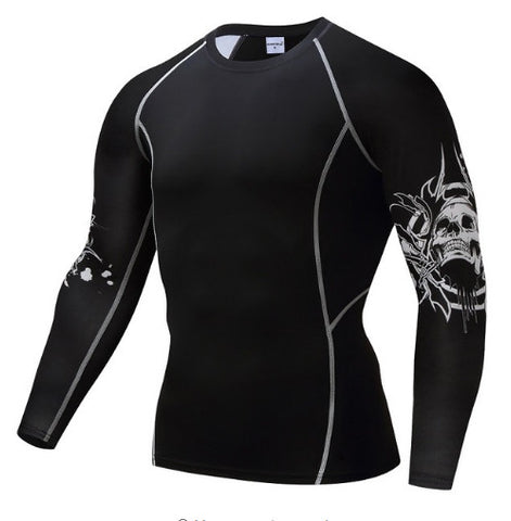 Thorn Skull Compression Top (Long Sleeves)