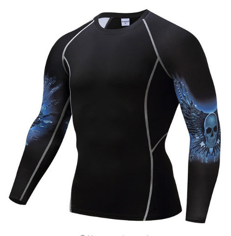 Winged Skull Compression Top (Long Sleeves)