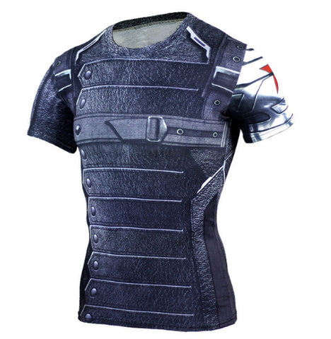Winter Soldier Compression Top (Shorts Sleeves)