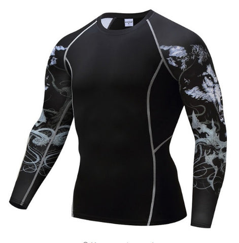 Wolf Compression Top (Long Sleeves)