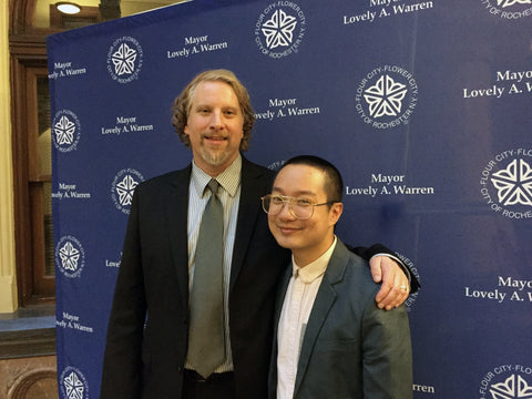 BOA Publisher Peter Conners with Chen Chen