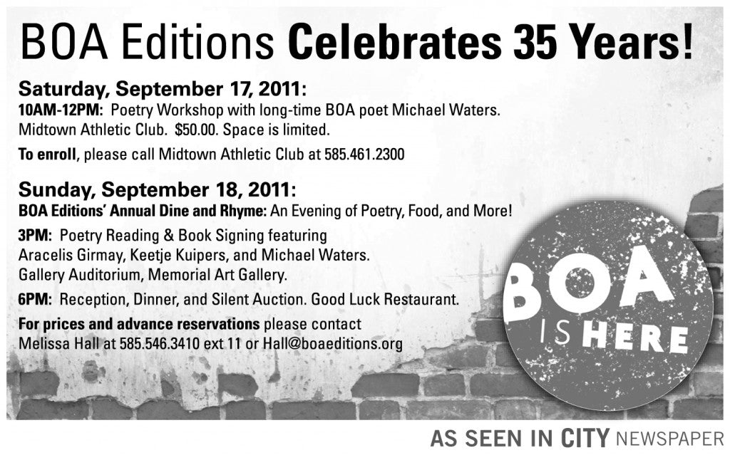 BOA Editions - Dine & Rhyme - 1-8H - 8-24-11