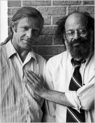 Peter Orlovsky (left) and Allen Ginsberg