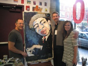 Painter Steve Smock with BOA Editor Peter Conners and BOA Development Director Melissa Hall