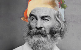 The Poetry Foundation's Whitman-Santa image