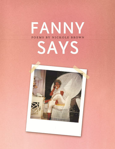 Fanny Says - BOA Editions, Ltd.
