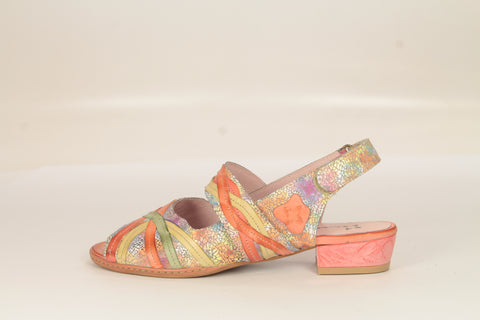 Custom Peach Multi Leather Sandals