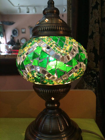 Authentic Green Turkish Lamp - Shops on Bay