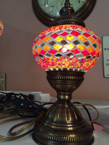 Authentic Red & Orange Turkish Lamp - Shops on Bay