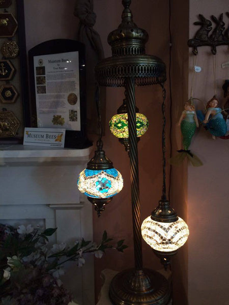 Authentic 3-Bulb Turkish Lamp - Shops on Bay