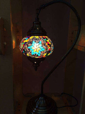 Authentic Turquoise-Multi Arc Turkish Lamp - Shops on Bay