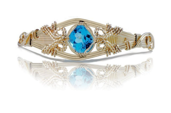 Ronaldo 6 Strand Blue Topaz Gemstone Bracelet - Shops on Bay