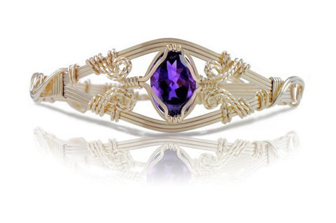 Ronaldo 6 Strand Amethyst Gemstone Bracelet - Shops on Bay
