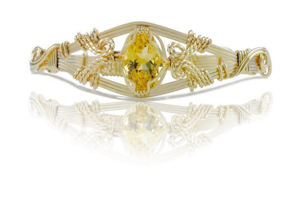 Ronaldo 6 Strand Citrine Gemstone Bracelet - Shops on Bay