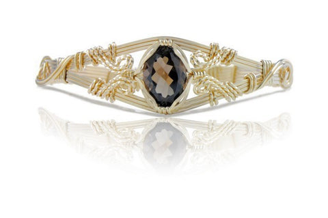 Ronaldo 6 Strand Smokey Topaz Gemstone Bracelet - Shops on Bay