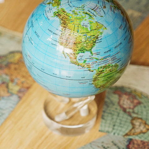 MOVA MOVING Blue with Relief Map Gloss Finish Globe - Shops on Bay  - 1
