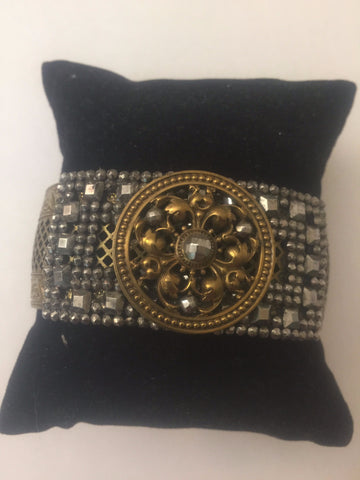 ONE OF A KIND - Vintage Rhinestone Art Deco Cuff