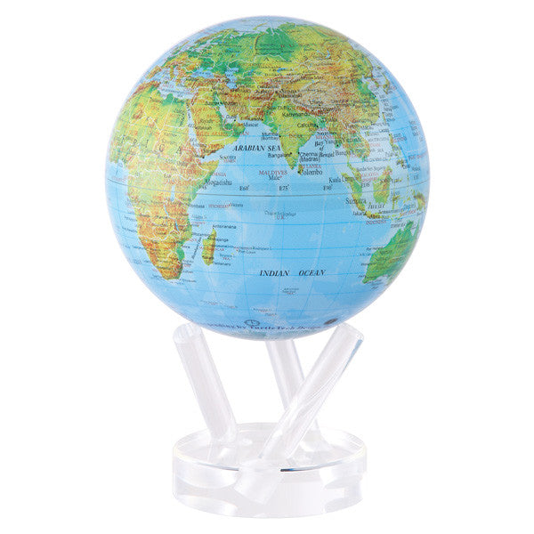 MOVA MOVING Blue with Relief Map Gloss Finish Globe - Shops on Bay  - 3