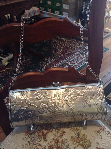 Hand-Hammered Aluminum Handbag with Swarvoski Crystals - Shops on Bay  - 3