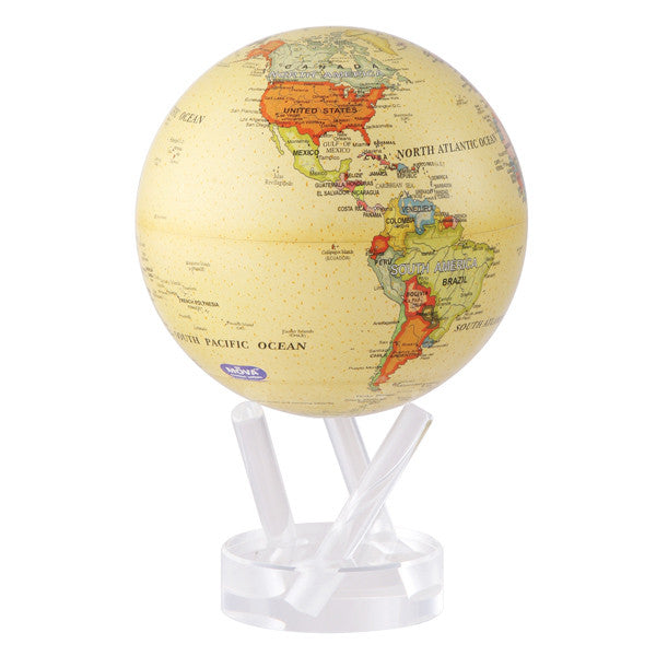 MOVING Antique Beige Map Globe - Shops on Bay  - 2