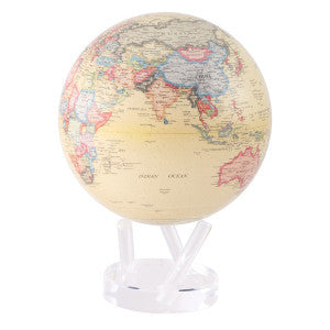 MOVING Antique Beige Map Globe - Shops on Bay  - 3
