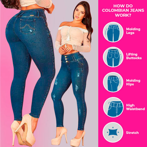 How do Colombian jeans lift your butt?