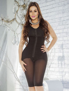 FULL COVERAGE BODY SHAPER W/ BRA & HOOKS PDA093